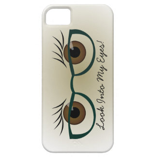 Brown Eyes and Glasses iPhone SE/5/5s Case