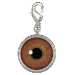 Brown Eyes Iris Eye Fun Cool Round Bracelet Charms