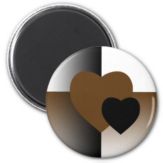 Brown Fade 2 Inch Round Magnet