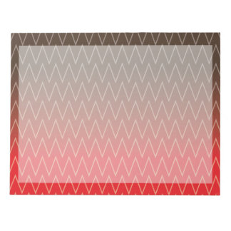 Brown Faded to Red Chevron Gradient Pattern Notepad