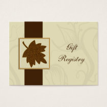 brown fall wedding Gift registry  Cards