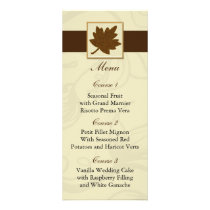 brown fall wedding menu