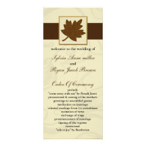 brown fall Wedding program