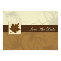 brown fall wedding save the date announcement