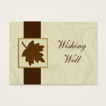 brown fall wedding wishing well cards