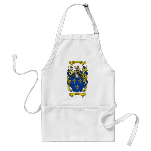 BROWN FAMILY CREST -  BROWN COAT OF ARMS ADULT APRON