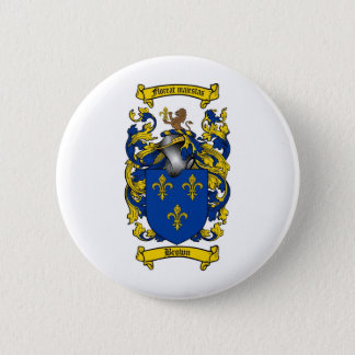 BROWN FAMILY CREST -  BROWN COAT OF ARMS BUTTON