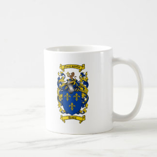BROWN FAMILY CREST -  BROWN COAT OF ARMS CLASSIC WHITE COFFEE MUG