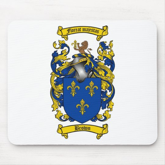 BROWN FAMILY CREST -  BROWN COAT OF ARMS MOUSE PAD