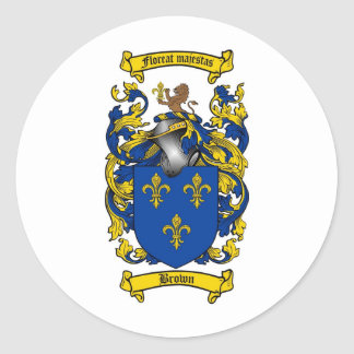 BROWN FAMILY CREST -  BROWN COAT OF ARMS STICKERS