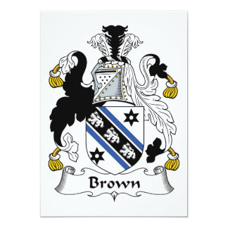 Brown Family Crest Card