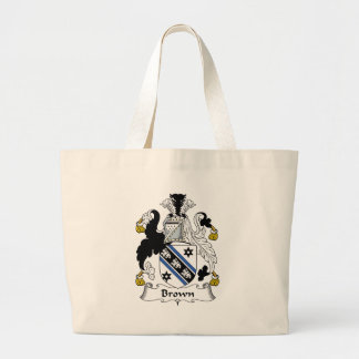 Brown Family Crest Large Tote Bag