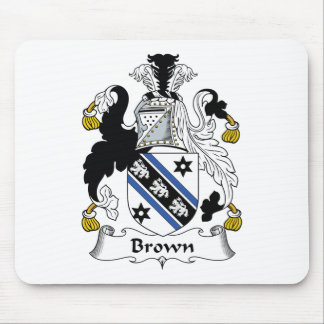 Brown Family Crest Mouse Pad