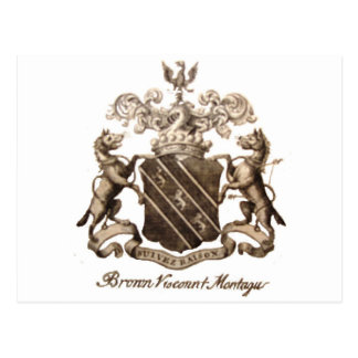 BROWN FAMILY CREST POSTCARD