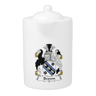 Brown Family Crest Teapot