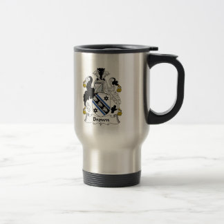 Brown Family Crest Travel Mug