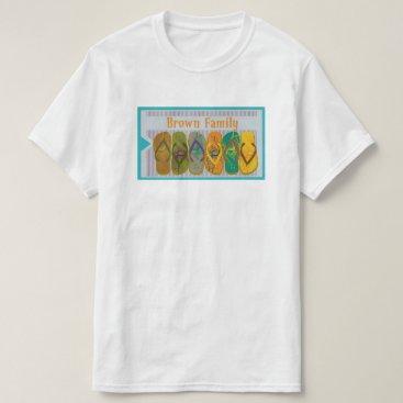 Beach Themed Brown Family Name Beach T-Shirt