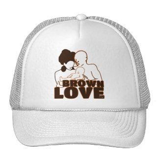 BROWN FAMILY OUTLINE TRUCKER HAT
