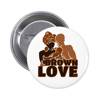 BROWN FAMILY SOLID PINBACK BUTTON