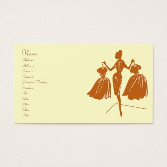 Brown Fashion Silhouette Business Card