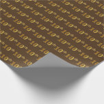 [ Thumbnail: Brown, Faux Gold 10th (Tenth) Event Wrapping Paper ]