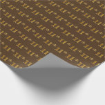 [ Thumbnail: Brown, Faux Gold 11th (Eleventh) Event Wrapping Paper ]
