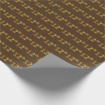 [ Thumbnail: Brown, Faux Gold 12th (Twelfth) Event Wrapping Paper ]