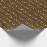[ Thumbnail: Brown, Faux Gold 15th (Fifteenth) Event Wrapping Paper ]