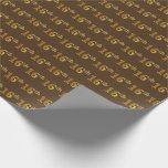[ Thumbnail: Brown, Faux Gold 16th (Sixteenth) Event Wrapping Paper ]