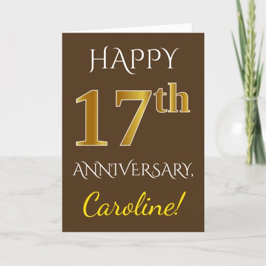 Gift For 17th Wedding Anniversary: Happy 17th Anniversary Gifts On Zazzle