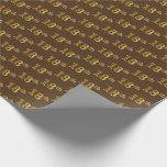 [ Thumbnail: Brown, Faux Gold 18th (Eighteenth) Event Wrapping Paper ]