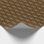 [ Thumbnail: Brown, Faux Gold 19th (Nineteenth) Event Wrapping Paper ]