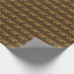 [ Thumbnail: Brown, Faux Gold 20th (Twentieth) Event Wrapping Paper ]