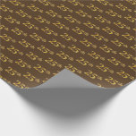 [ Thumbnail: Brown, Faux Gold 25th (Twenty-Fifth) Event Wrapping Paper ]