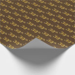 [ Thumbnail: Brown, Faux Gold 30th (Thirtieth) Event Wrapping Paper ]