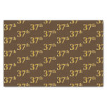 [ Thumbnail: Brown, Faux Gold 37th (Thirty-Seventh) Event Tissue Paper ]