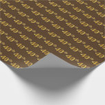 [ Thumbnail: Brown, Faux Gold 40th (Fortieth) Event Wrapping Paper ]