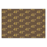 [ Thumbnail: Brown, Faux Gold 41st (Forty-First) Event Tissue Paper ]