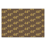 [ Thumbnail: Brown, Faux Gold 44th (Forty-Fourth) Event Tissue Paper ]