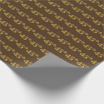 [ Thumbnail: Brown, Faux Gold 45th (Forty-Fifth) Event Wrapping Paper ]