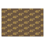 [ Thumbnail: Brown, Faux Gold 46th (Forty-Sixth) Event Tissue Paper ]