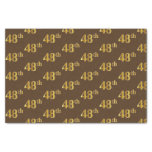 [ Thumbnail: Brown, Faux Gold 48th (Forty-Eighth) Event Tissue Paper ]