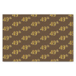 [ Thumbnail: Brown, Faux Gold 49th (Forty-Ninth) Event Tissue Paper ]