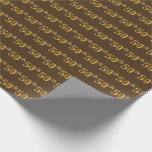 [ Thumbnail: Brown, Faux Gold 50th (Fiftieth) Event Wrapping Paper ]