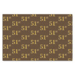 [ Thumbnail: Brown, Faux Gold 51st (Fifty-First) Event Tissue Paper ]