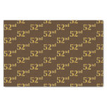 [ Thumbnail: Brown, Faux Gold 52nd (Fifty-Second) Event Tissue Paper ]