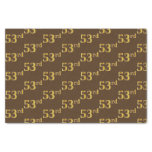 [ Thumbnail: Brown, Faux Gold 53rd (Fifty-Third) Event Tissue Paper ]