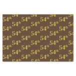 [ Thumbnail: Brown, Faux Gold 54th (Fifty-Fourth) Event Tissue Paper ]