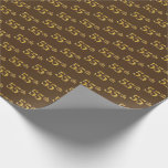 [ Thumbnail: Brown, Faux Gold 55th (Fifty-Fifth) Event Wrapping Paper ]