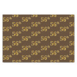 [ Thumbnail: Brown, Faux Gold 56th (Fifty-Sixth) Event Tissue Paper ]